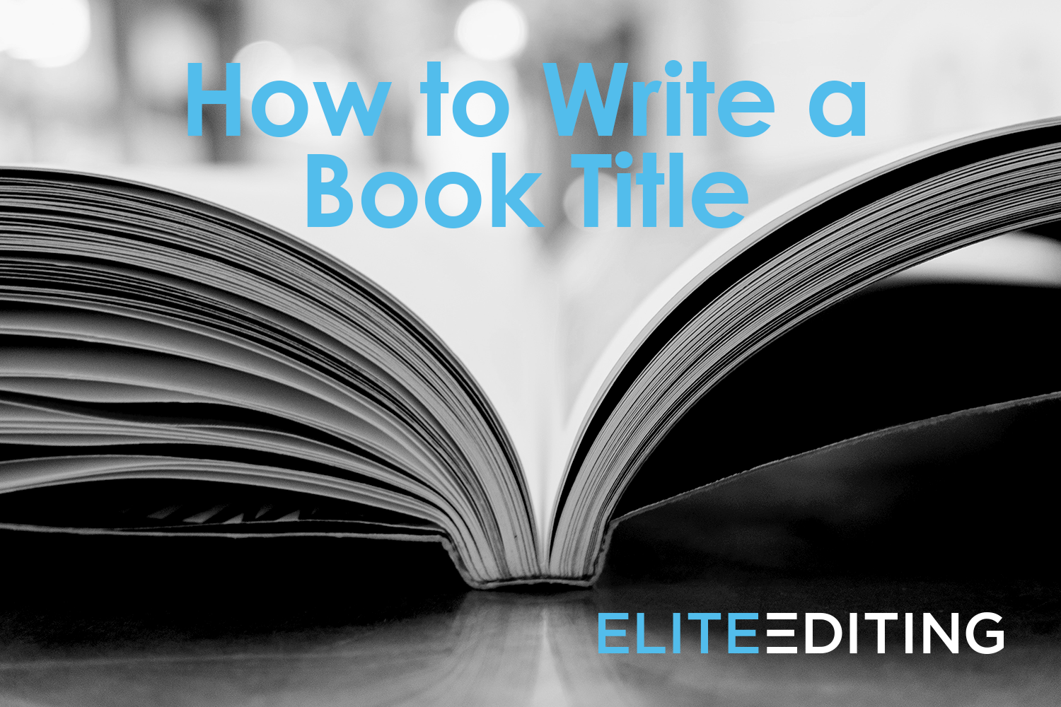 how to write a book title