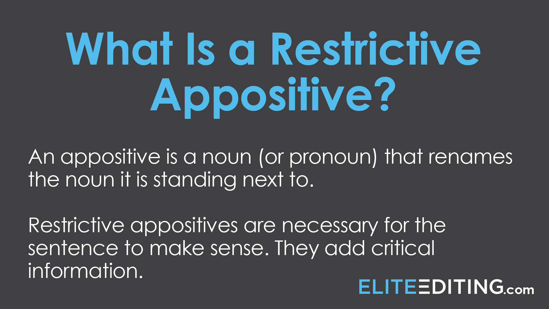 what is a restricted appositive