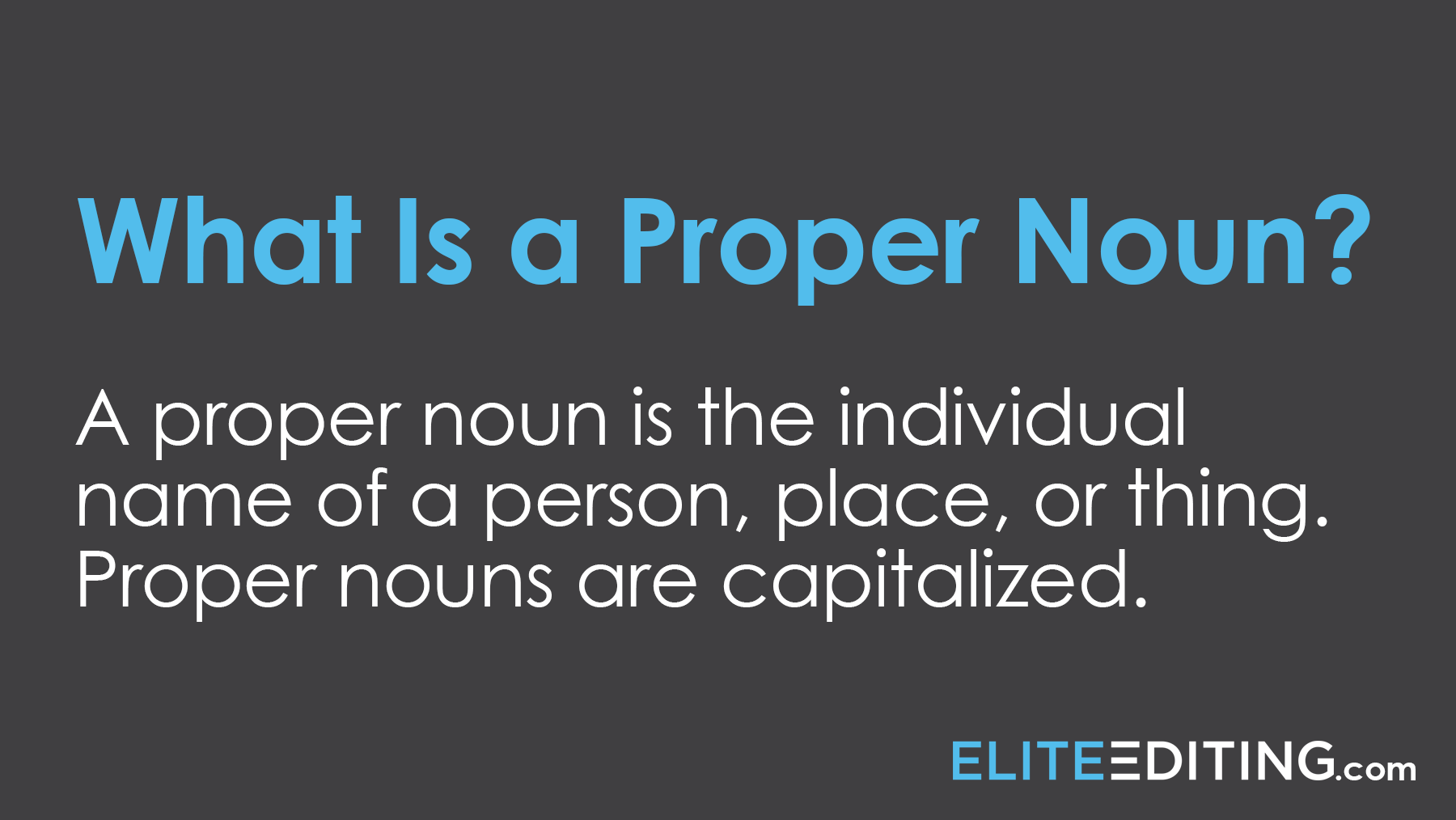 what is a proper noun
