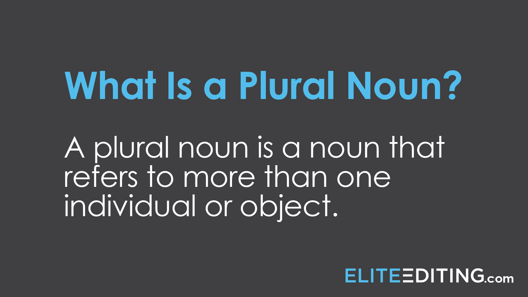 what is a plural noun