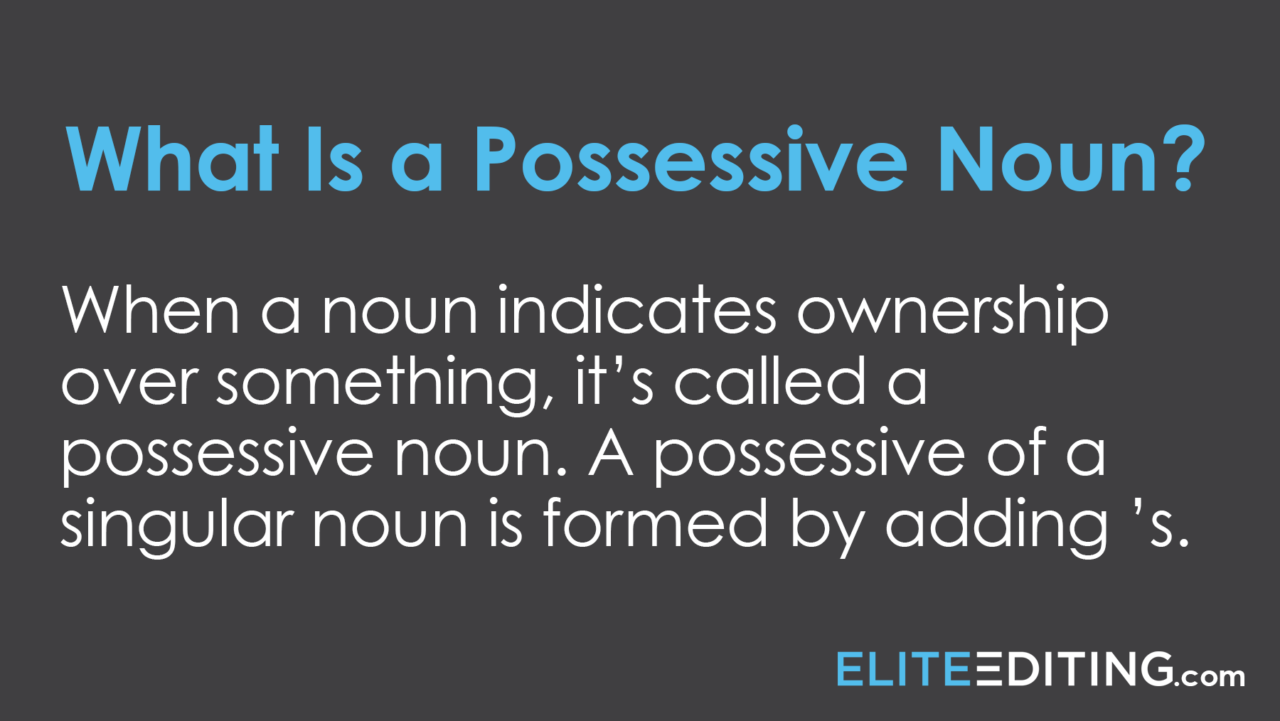 what is a possessive noun