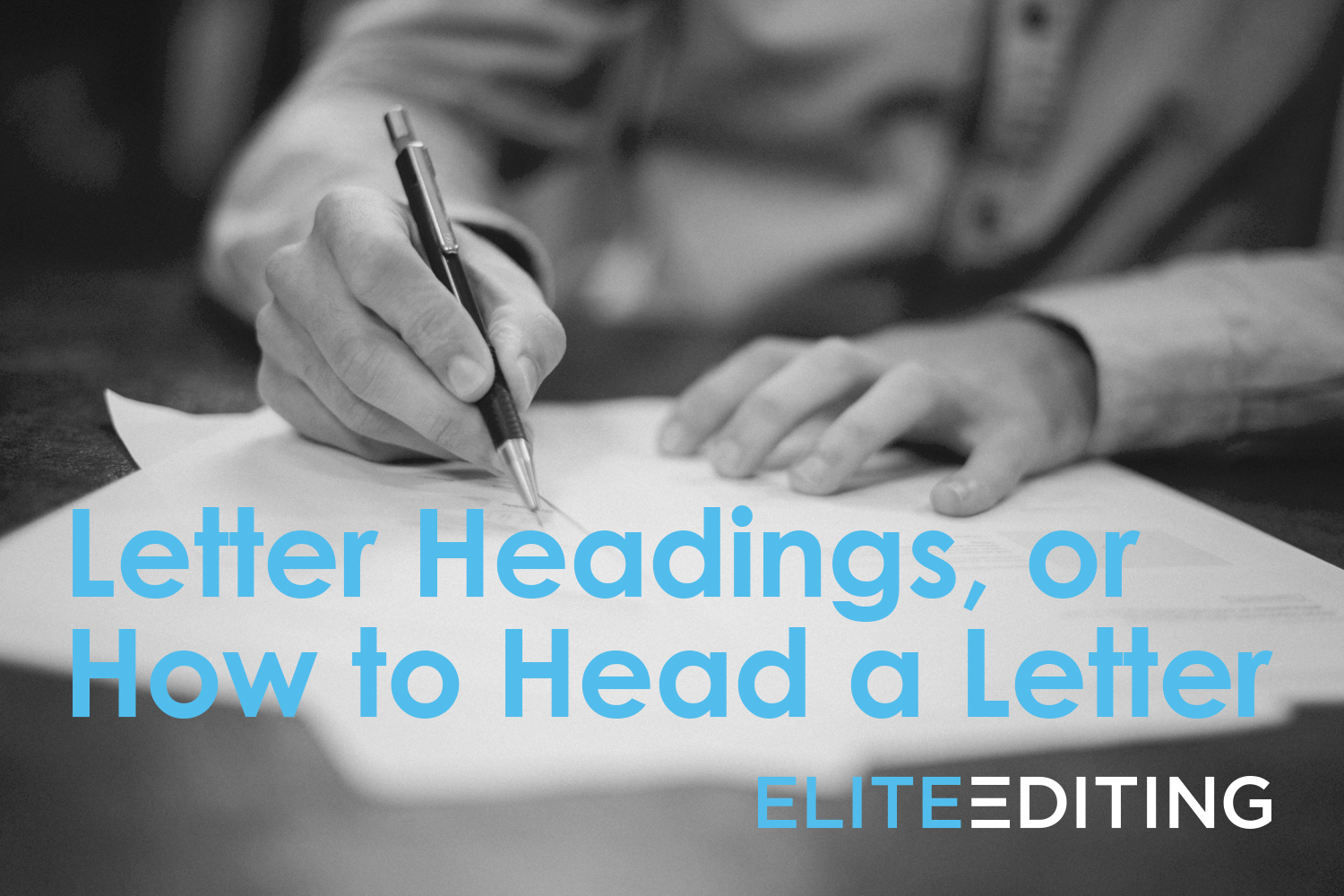 how to head a letter