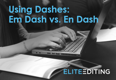 using dashes