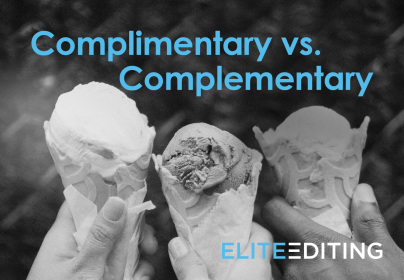 complimentary vs. complementary