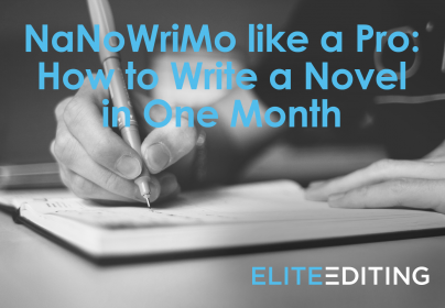 How to write a novel in one month