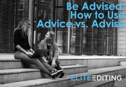 advice vs. advise