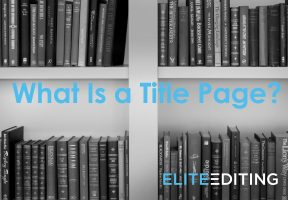 What Is a Title Page?
